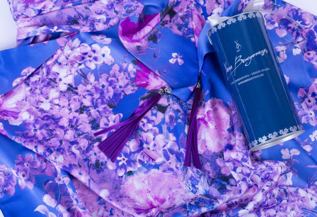 Платок #PurpleFlowers
