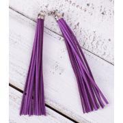 Замшевая кисточка фиолетовая