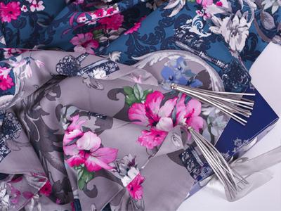 Теплый платок ##FLOWER&KEYS