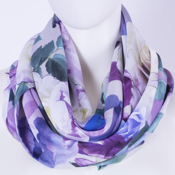 Шелковый платок #PurpleRose  CA-101