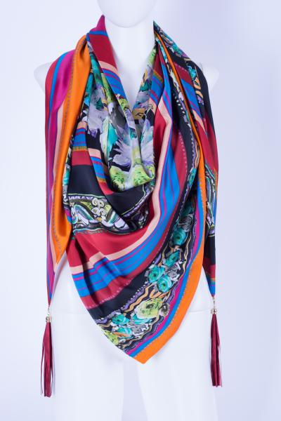 Шелковый платок  #Flower HF-201-24