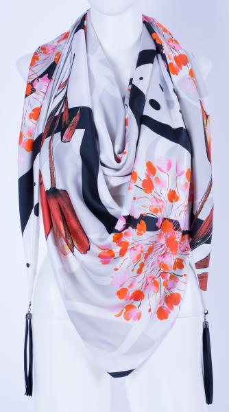 Шелковый платок #RedTulip HL-900-23