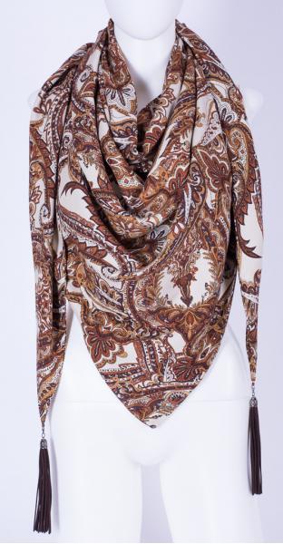 Теплые платки #OlivePaisley ВЗ-401-4