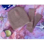 Комплект шапка + митенки   КП-1