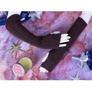 Митенки М-2 шоколадный