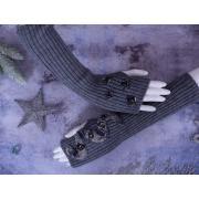 Митенки МЗ-1 серый меланж