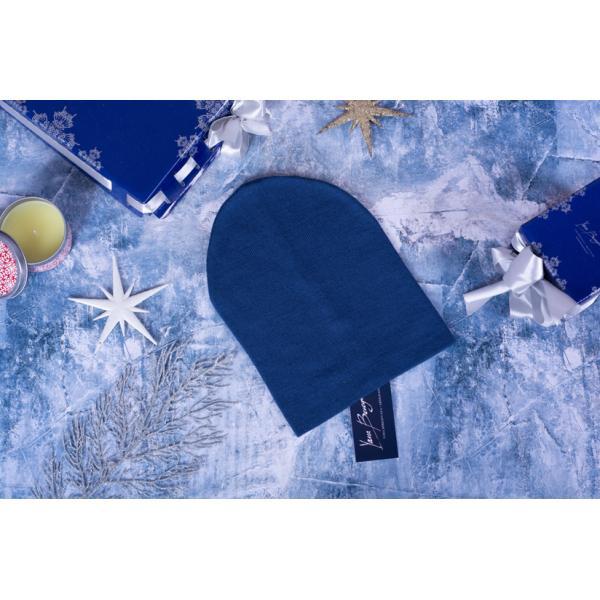 Шапка с отворотом-бини Ш-100 синяя